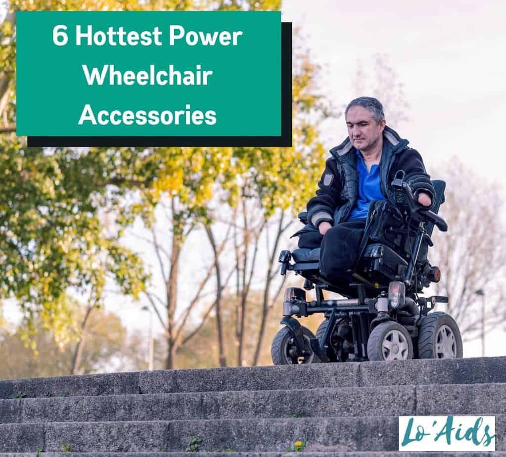 man riding a power wheelchair