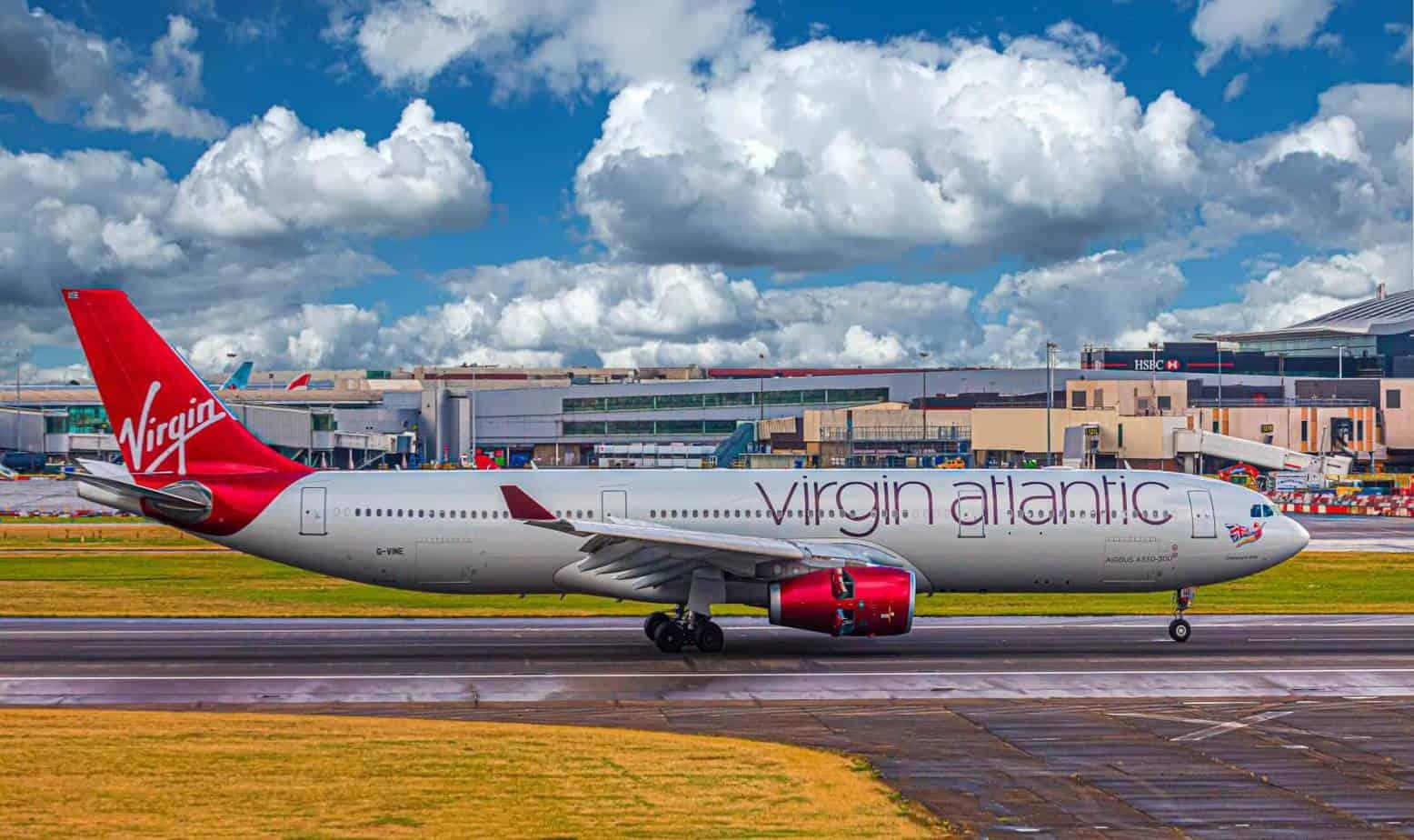 Virgin atlantic airplane carrying disabled passengers