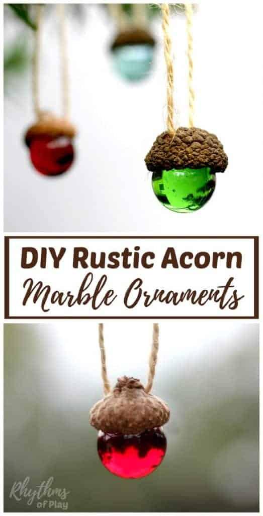 DIY rustic acorn craft