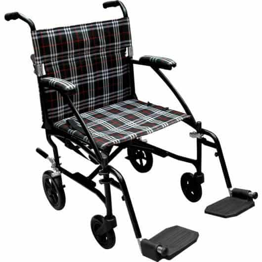 striped Fly-Lite Transport Chair