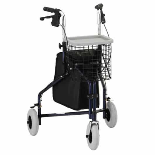 gray Nova Traveler 3-Wheel Rolling Walker