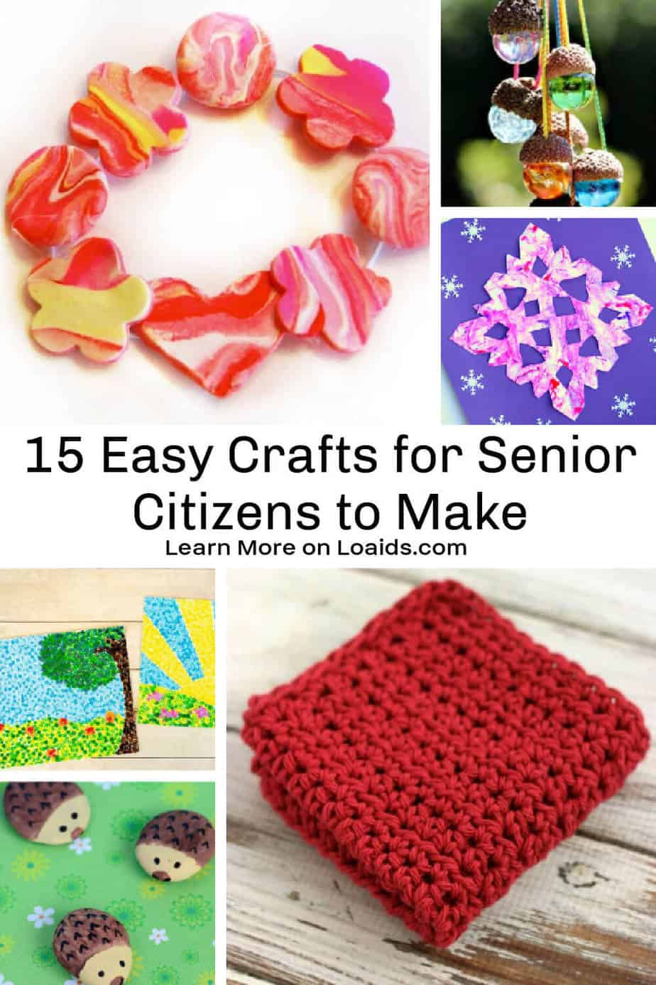 Want to try some fun elderly crafts? We give you 15 easy ideas that not only seniors can make but everyone! Check them out and try them yourself.