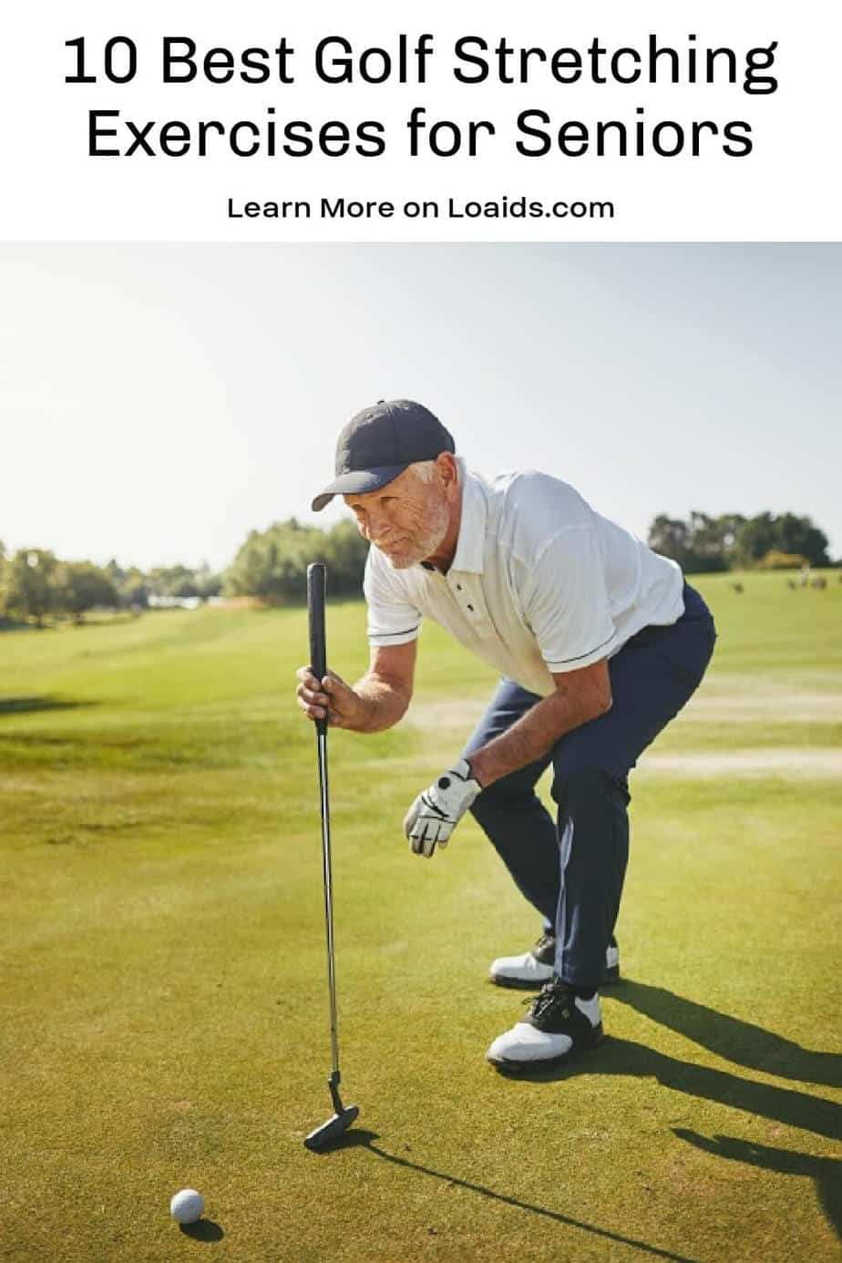 Looking for the best golf stretching exercises for seniors to warm up before you hit the links? Check out these 10 great stretches to try!