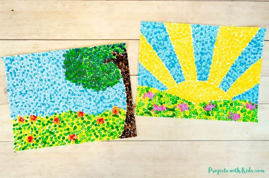 painting made of pointillism