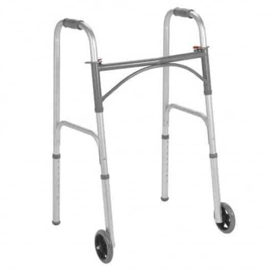 Sturdy Drive Folding Steel Walker, Two Button