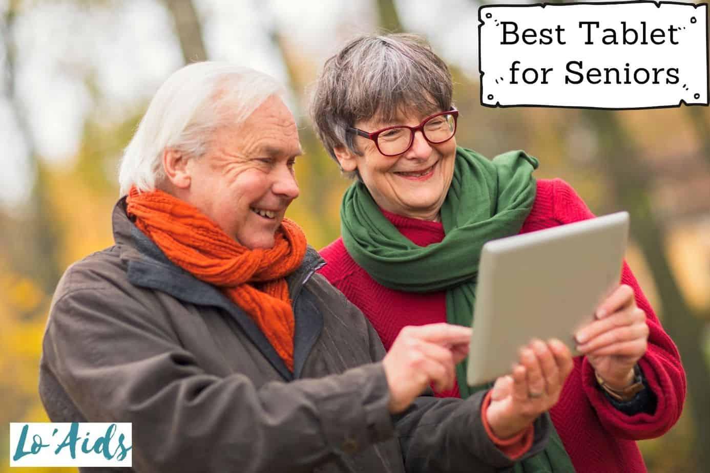 senior couple using their best tablets for seniors for video calling