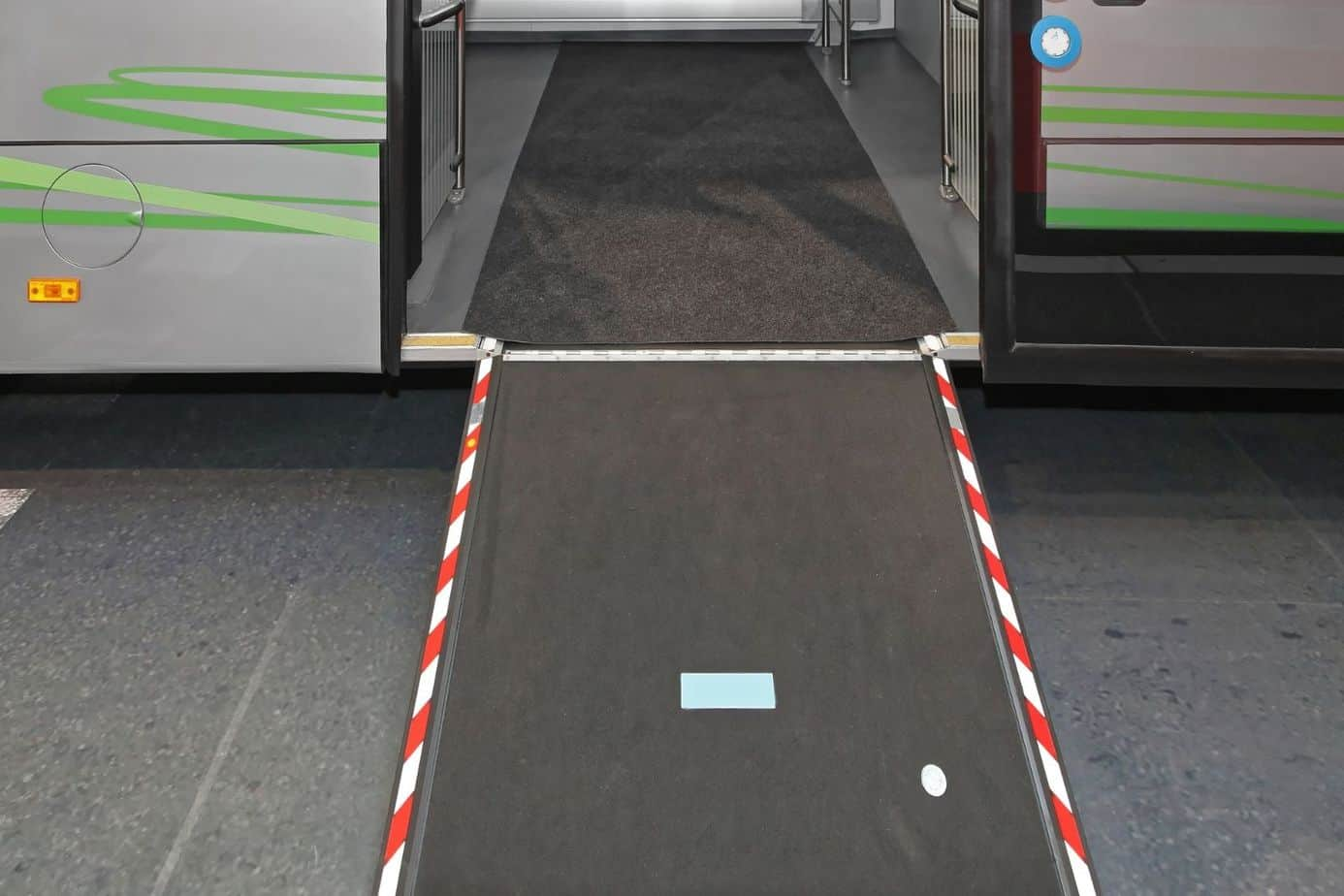 wheelchair ramp for bus riding