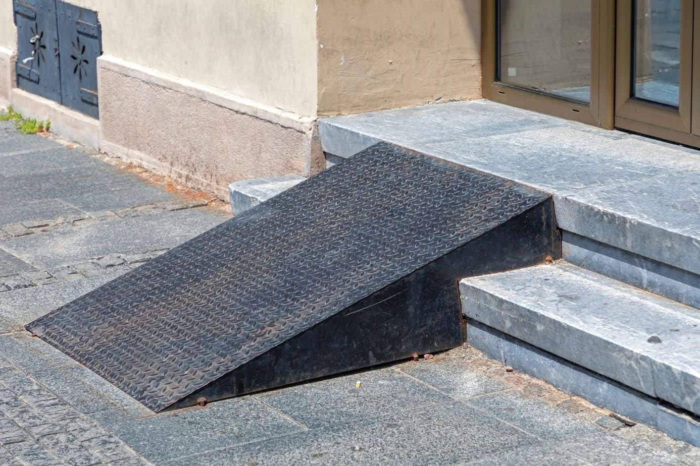 an old wheelchair threshold ramp