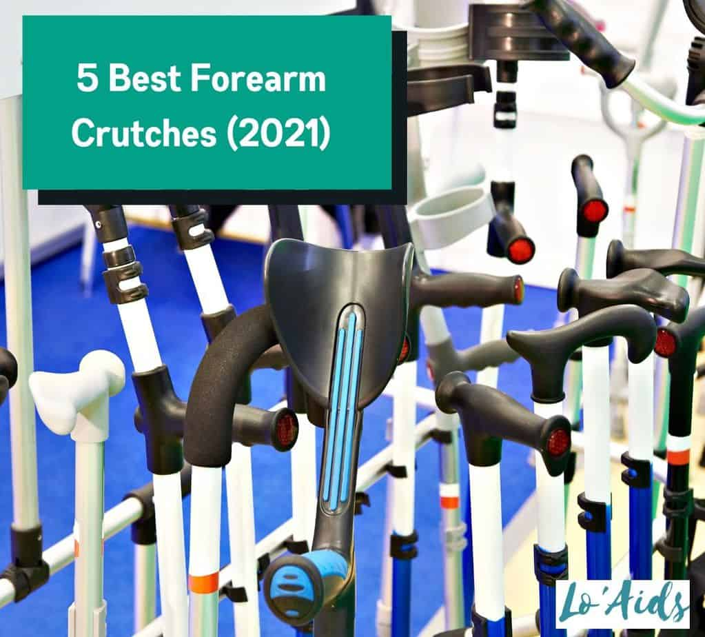 a group of forearm crutches