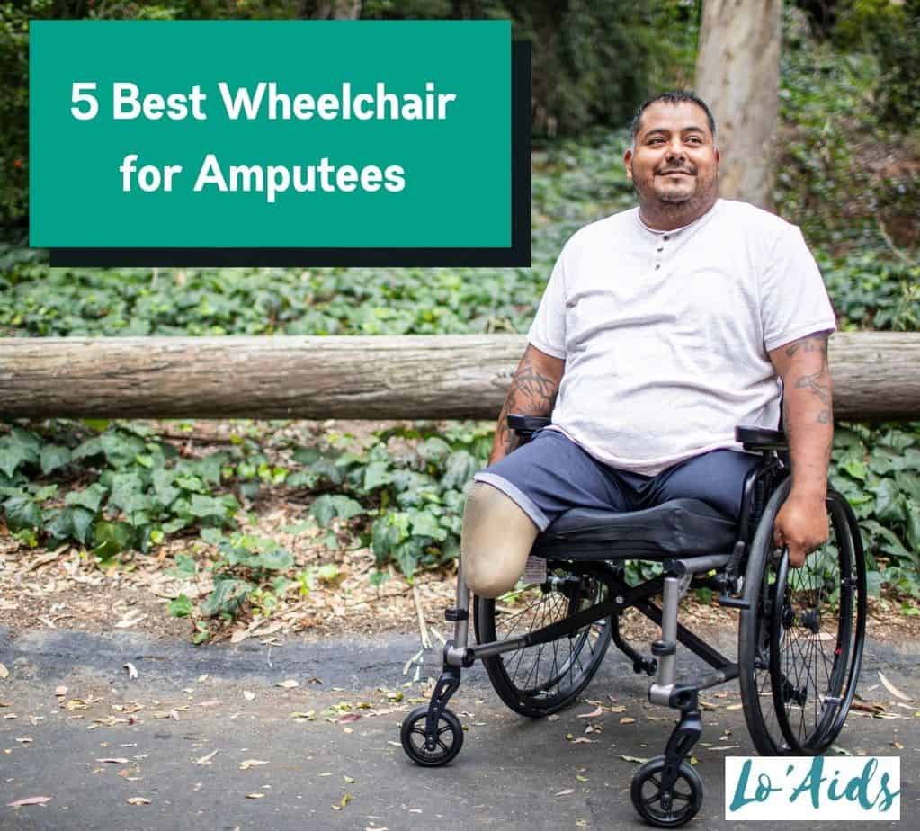 a man in a white shirt using his best wheelchair for amputees
