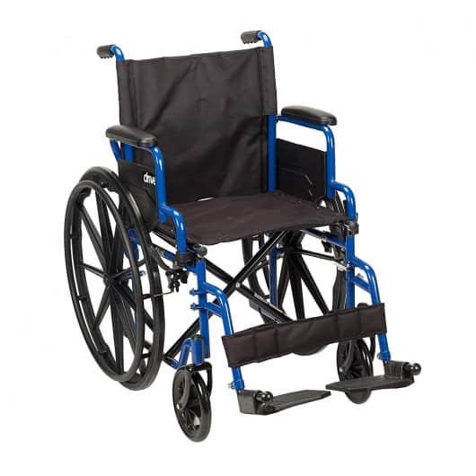 Blue Streak Wheelchair w/ Flip-Back Arms
