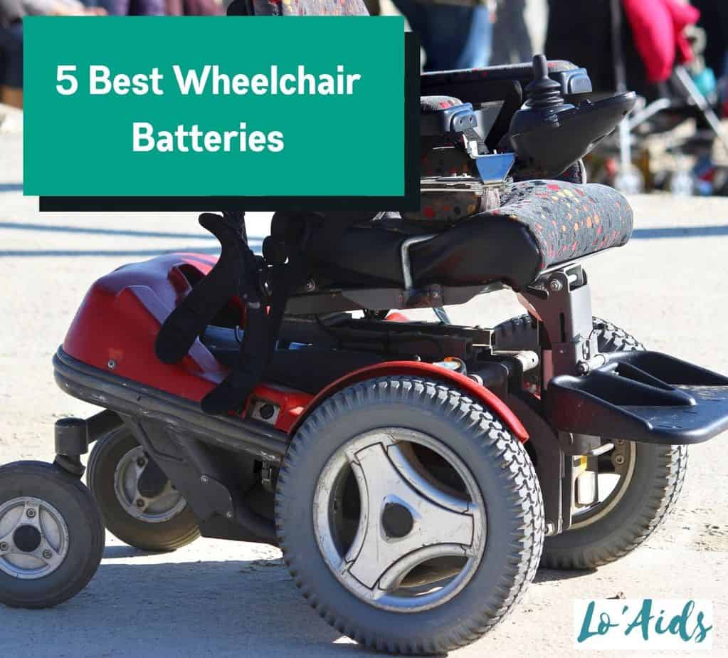 a red power wheelchair on the road