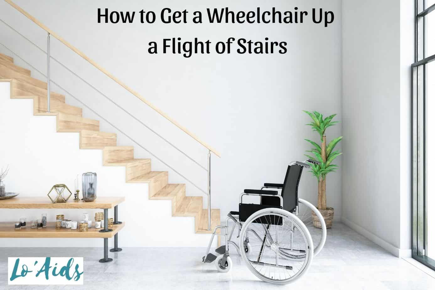 wheelchair in front of stairs