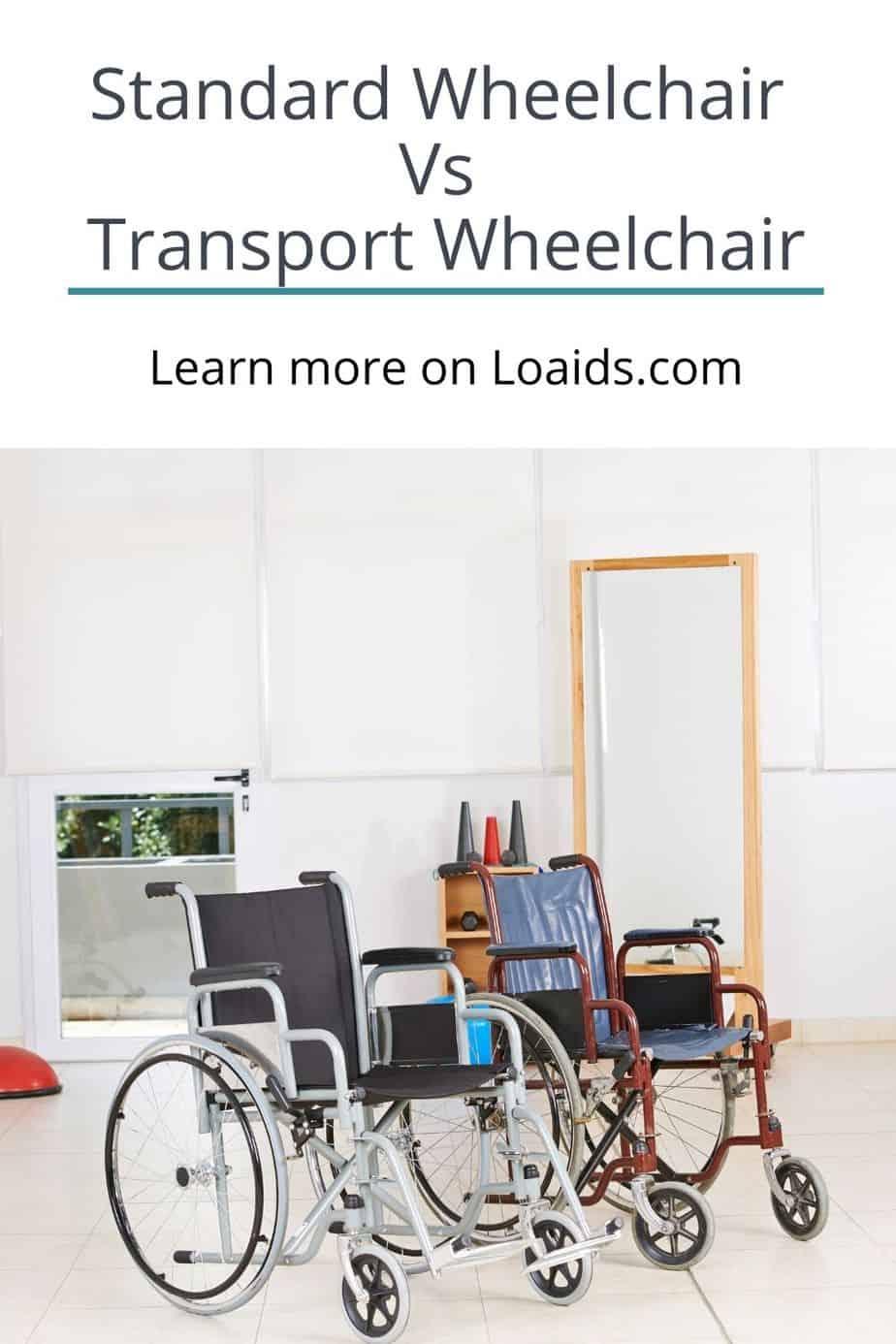 standard wheelchair vs transport wheelchair