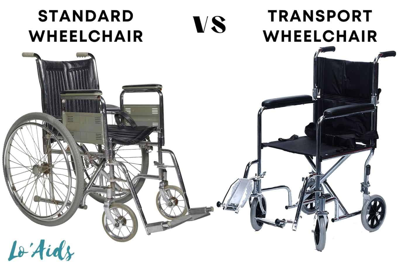 two wheelchairs: what is the difference between a wheelchair and a transport wheelchair