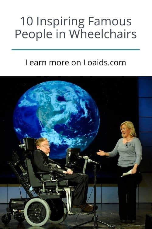 Stephen Hawking in an interview. He is one of the most famous people in wheelchairs.