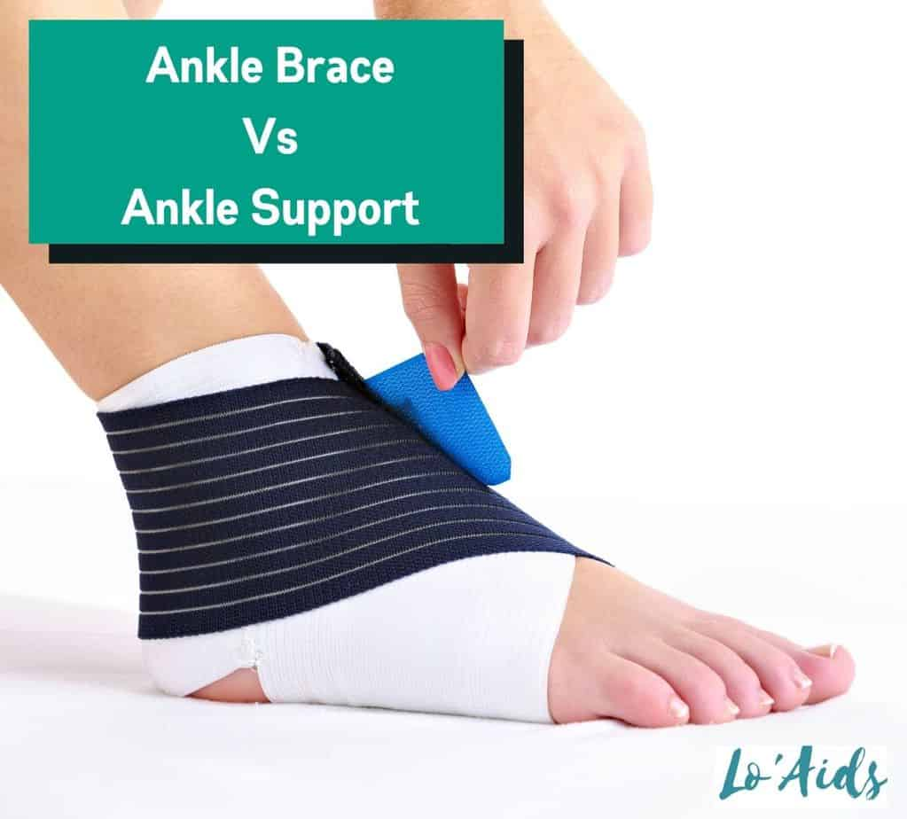 a man using an ankle support to know the difference between ankle brace and ankle support