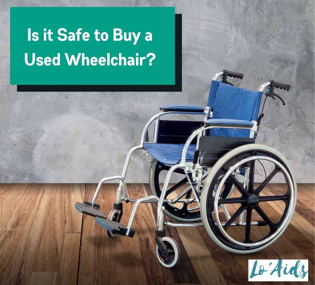 a used blue manual wheelchair but still looking good