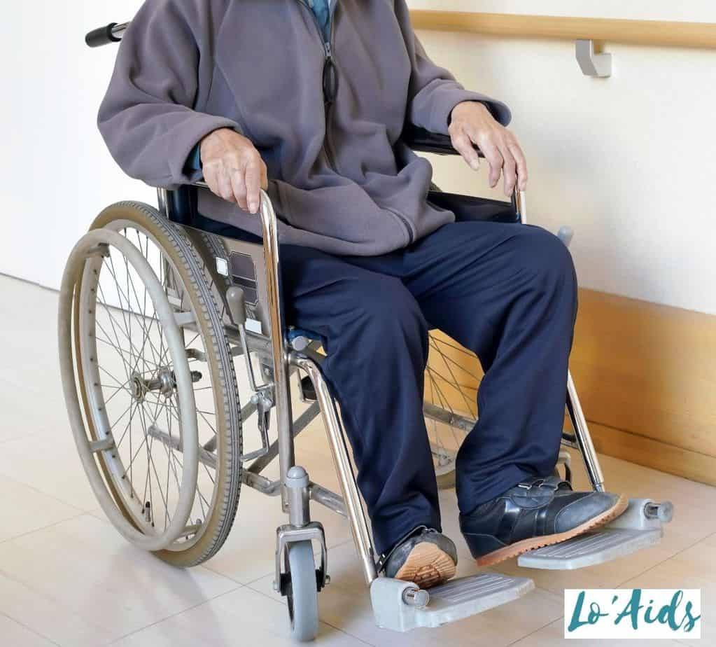 a man trying a used wheelchair