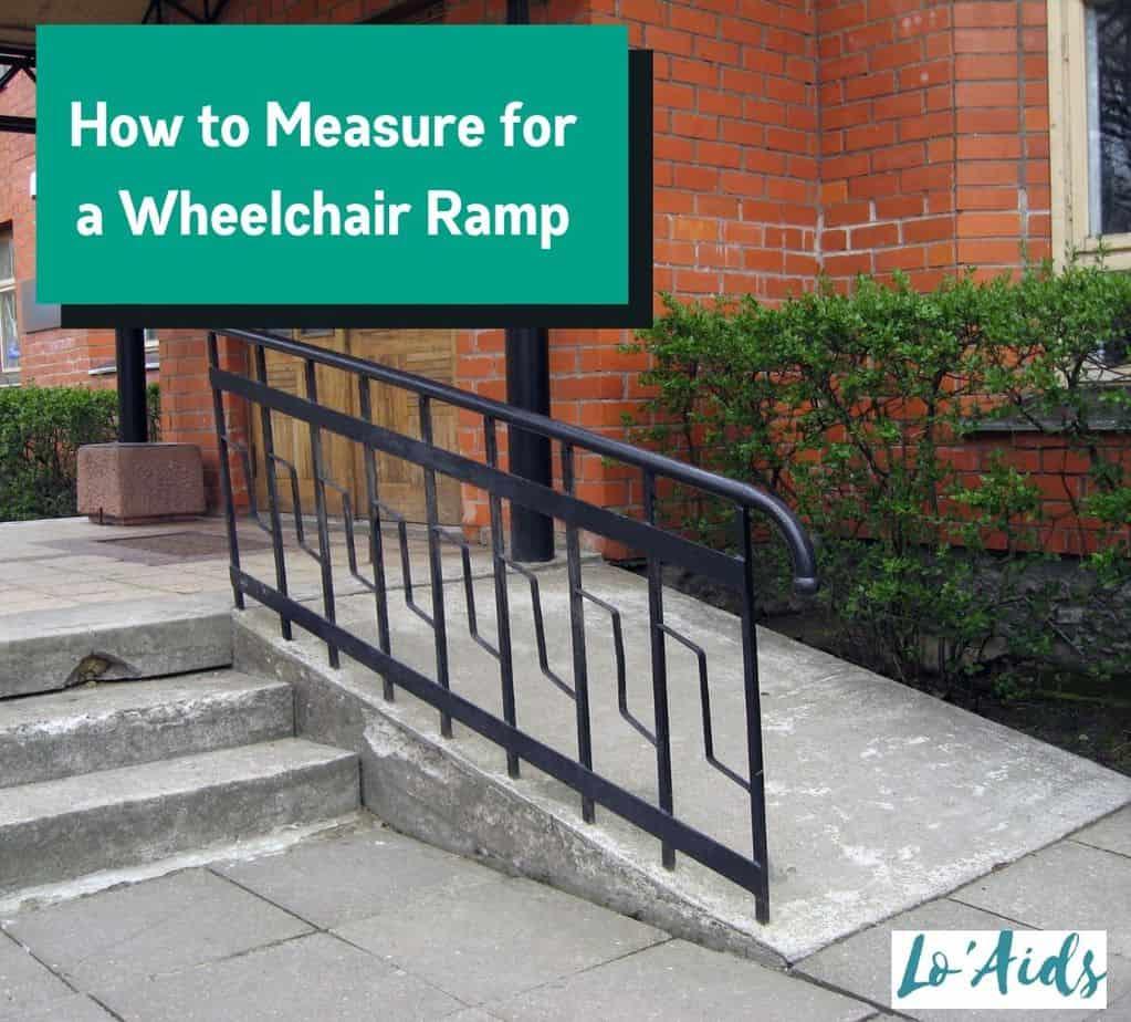 wheelchair ramp with black railings