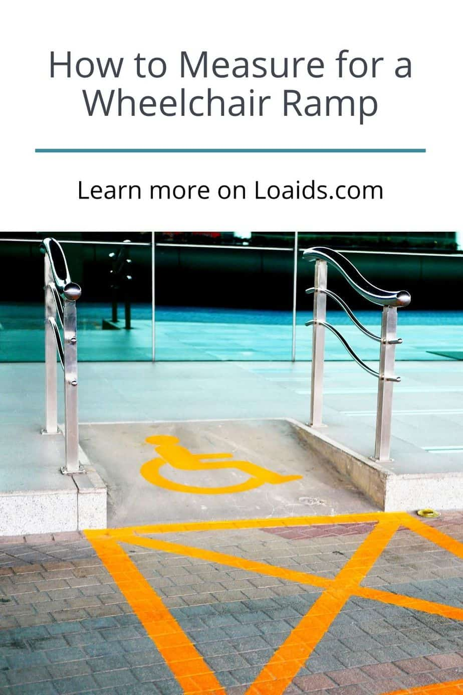 """a picture of wheelchair ramp with the title """"what length wheelchair ramp do I need?"""""""