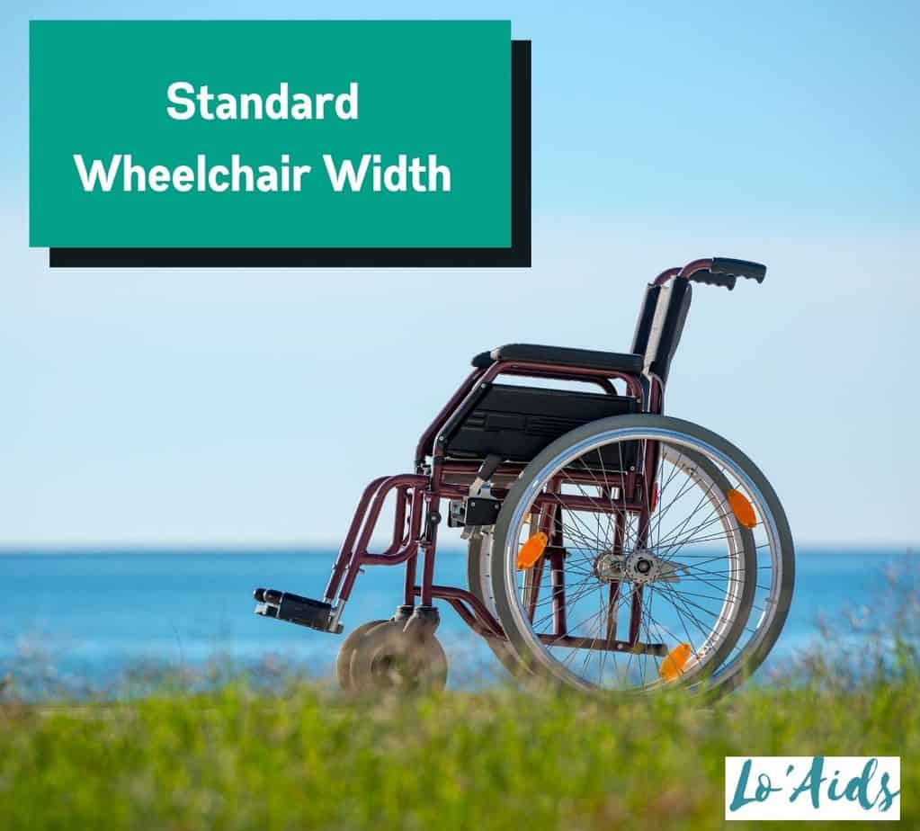 manual wheelchair with a standard wheelchair width