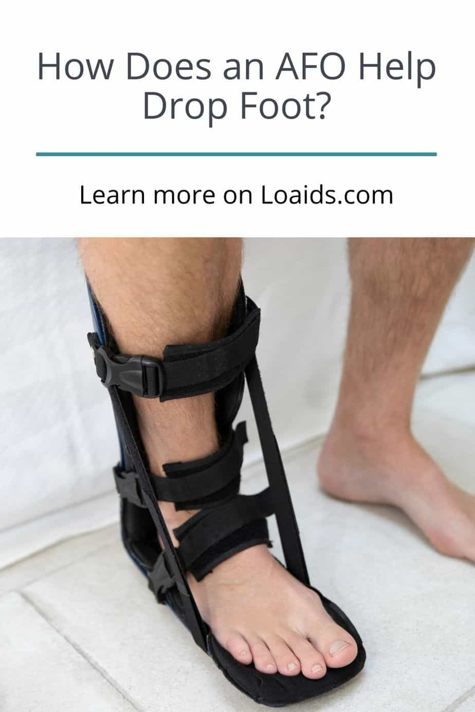 injured feet with AFO brace