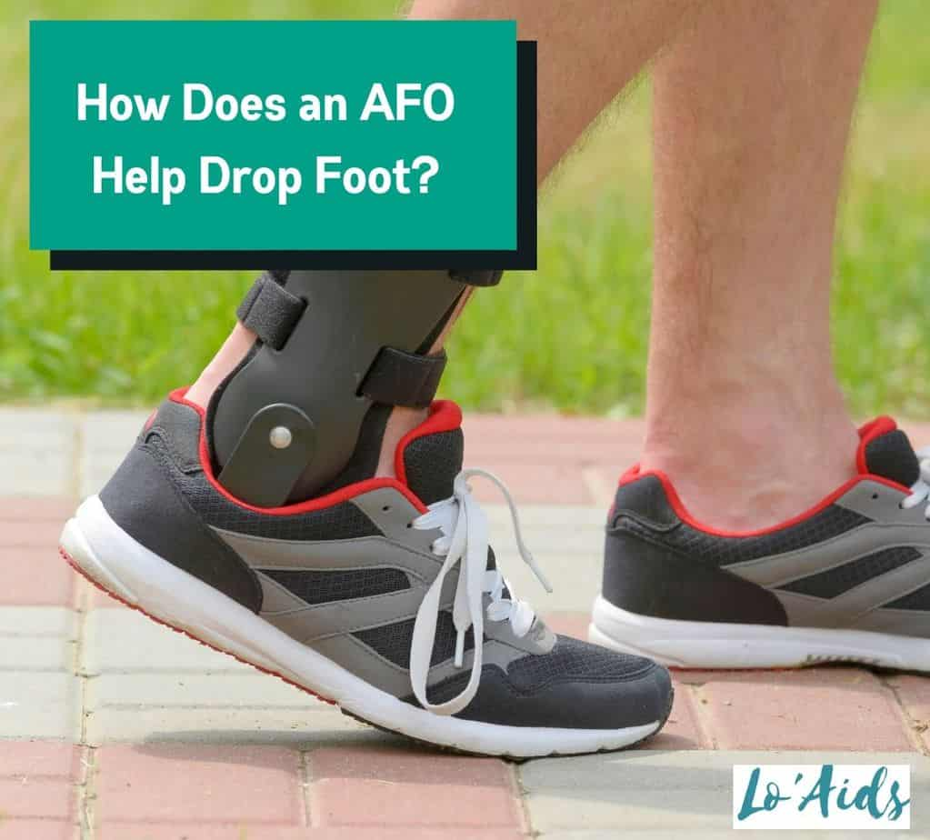 a man walking with an AFO brace to help his drop foot