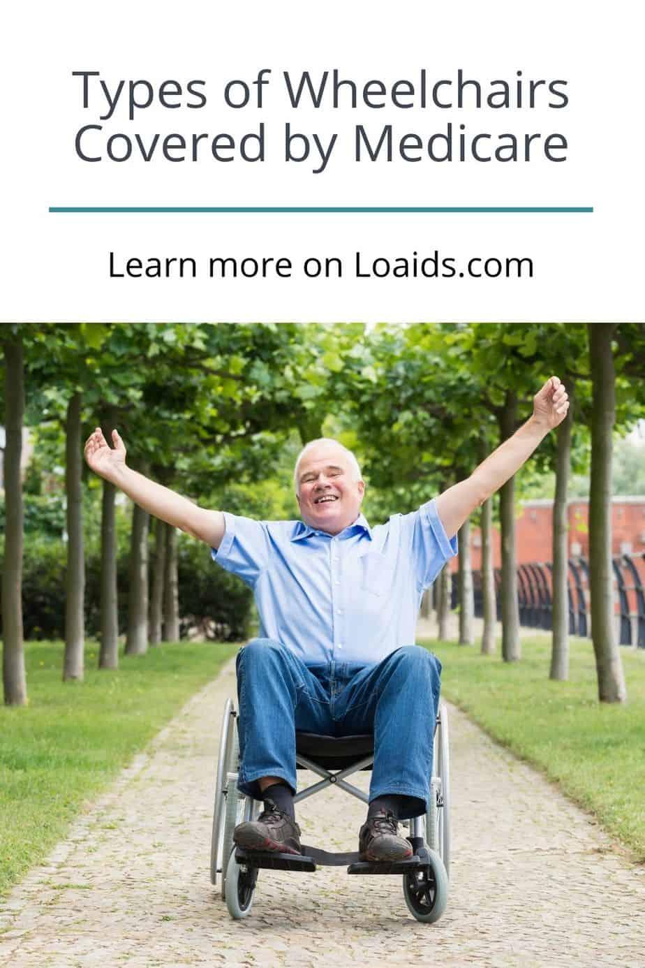 a happy man riding his wheelchair