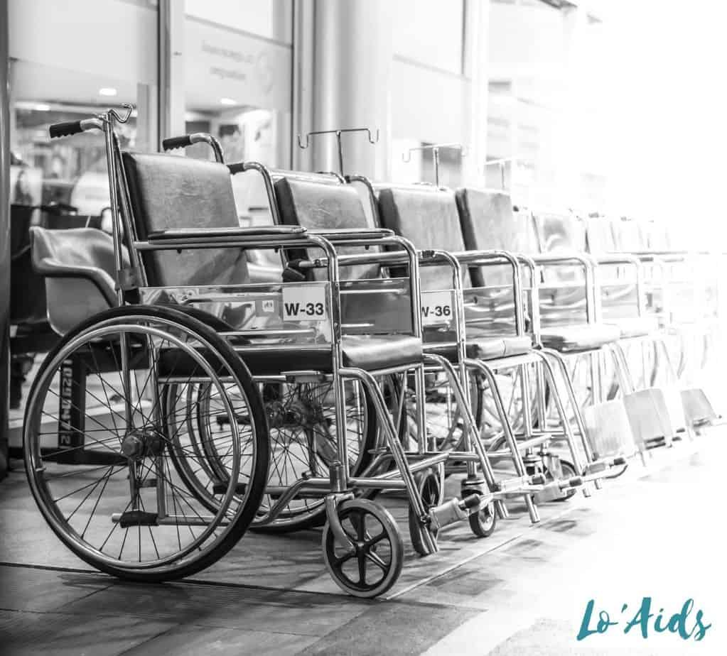 multiple wheelchairs in a row