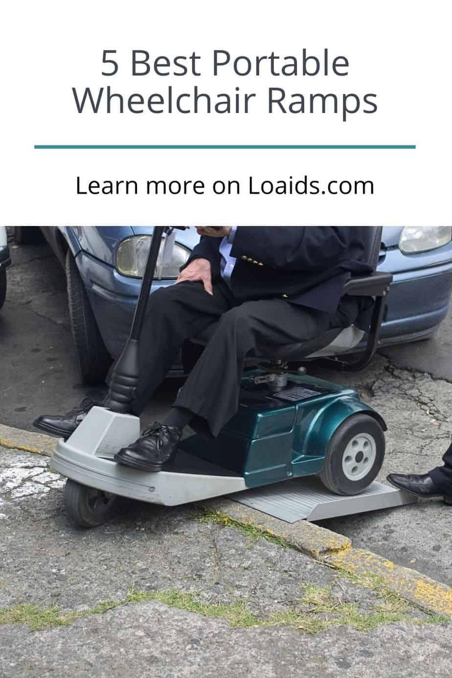 a man using a wheelchair ramp