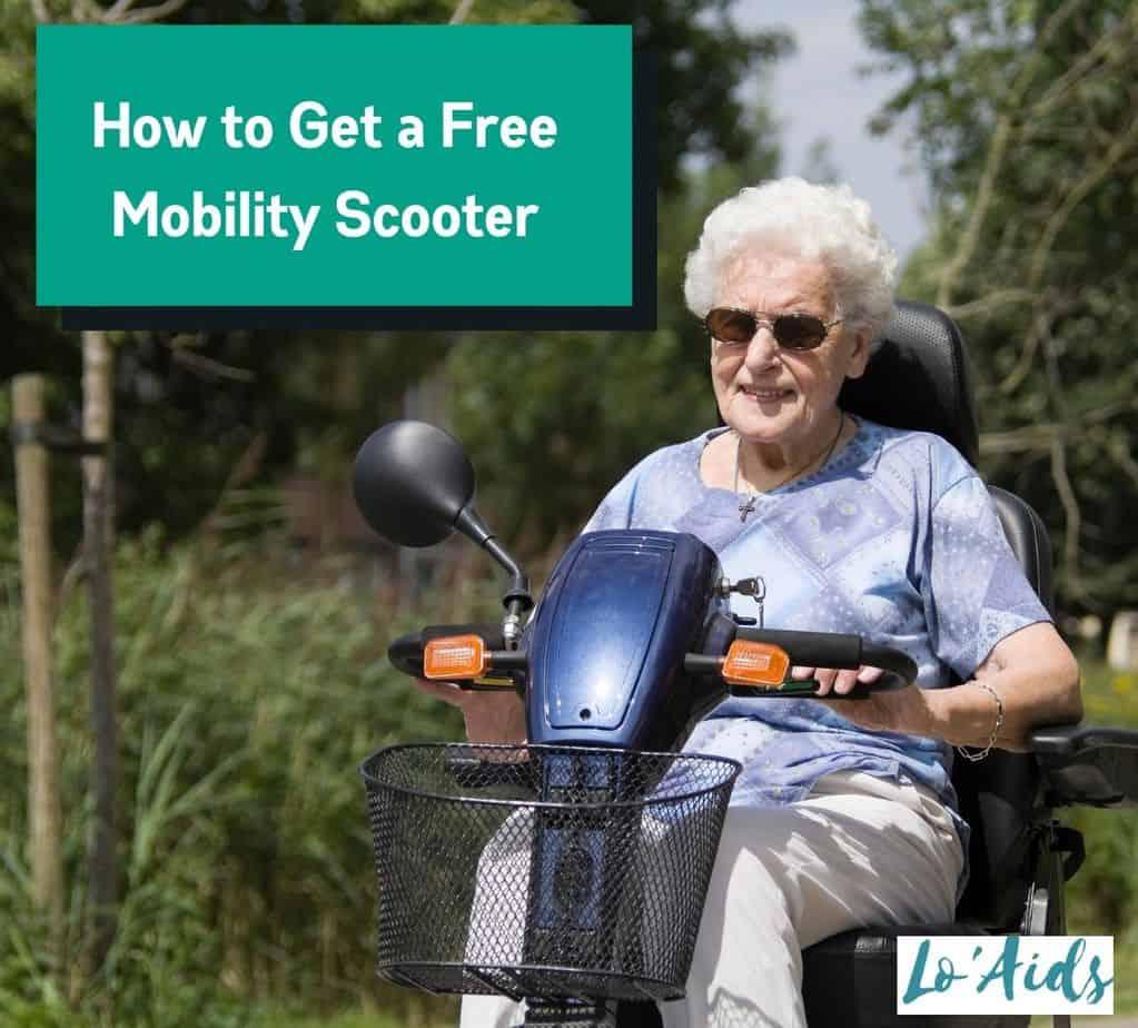 a senior woman riding a free scooter