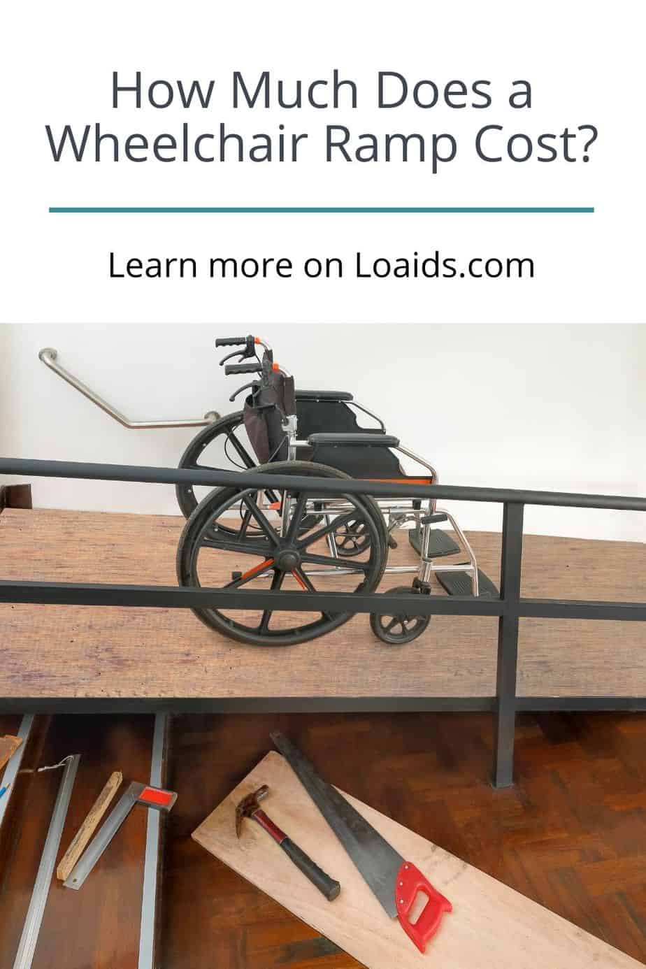 manual wheelchair on a newly-built wheelchair ramp