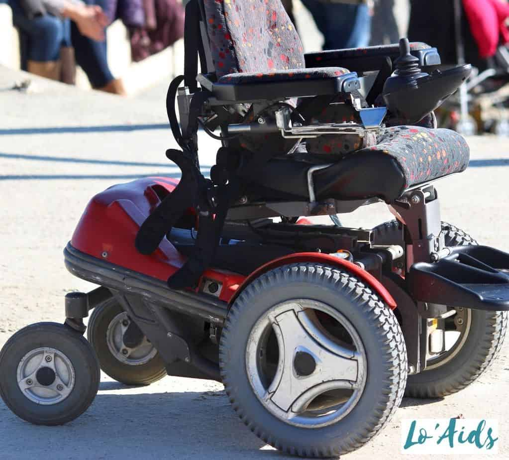 electric wheelchair with large wheels