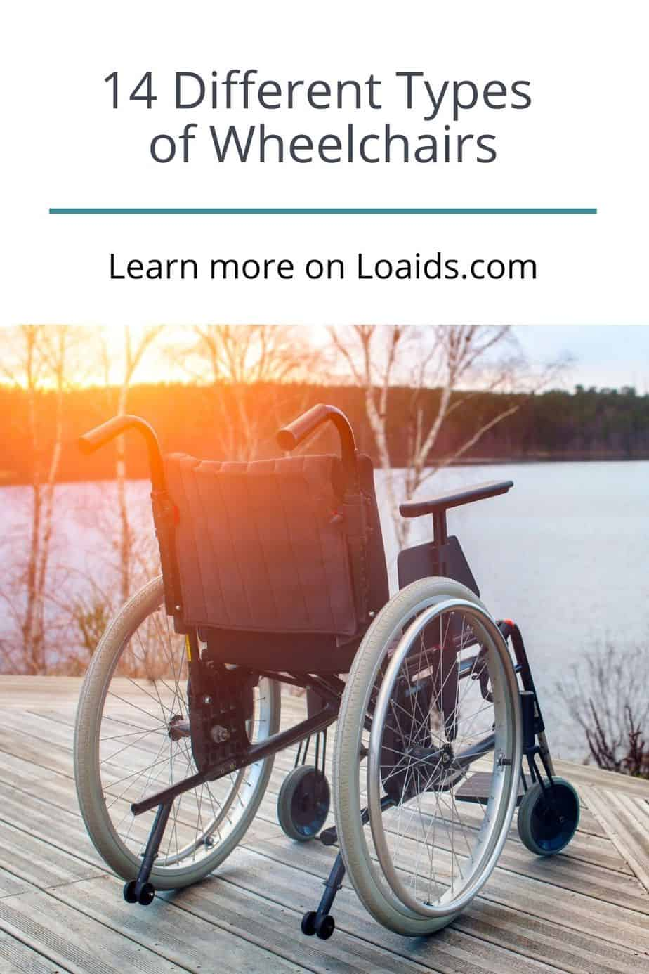 manual wheelchair facing the river