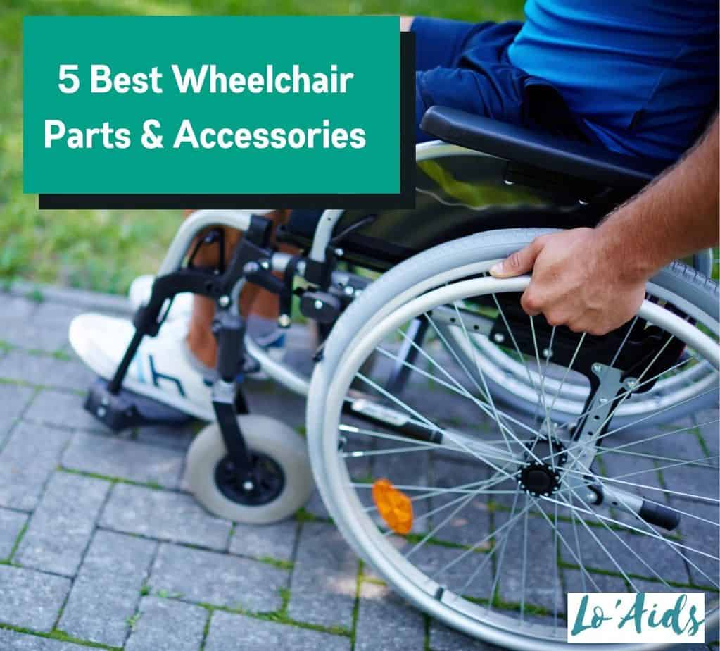 a man in a wheelchair with complete wheelchair parts