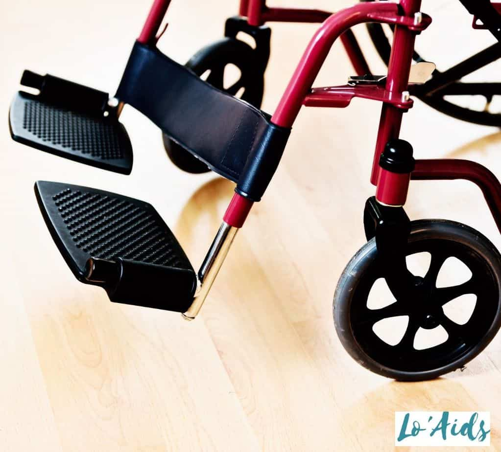 comfortable footrest and sturdy wheels as essential wheelchair parts