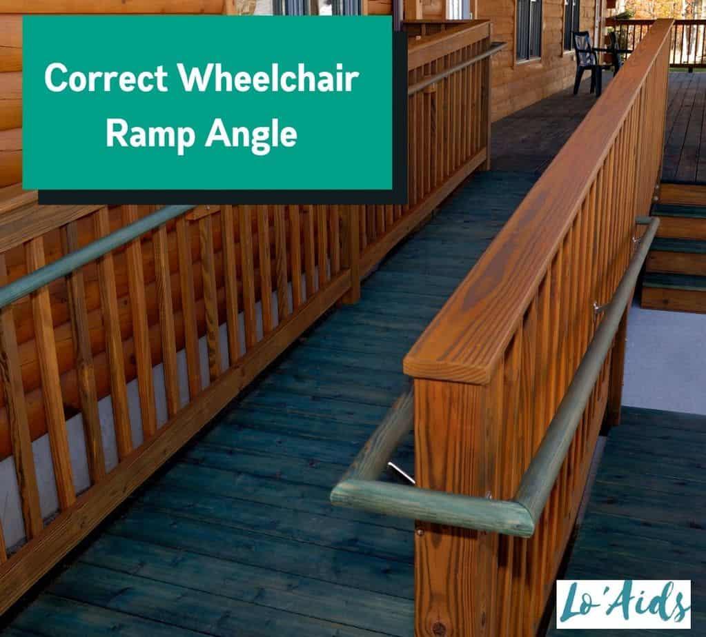 wheelchair ramp with the correct wheelchair ramp angle