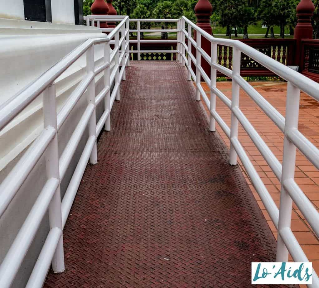 wheelchair ramp with the right wheelchair ramp angle