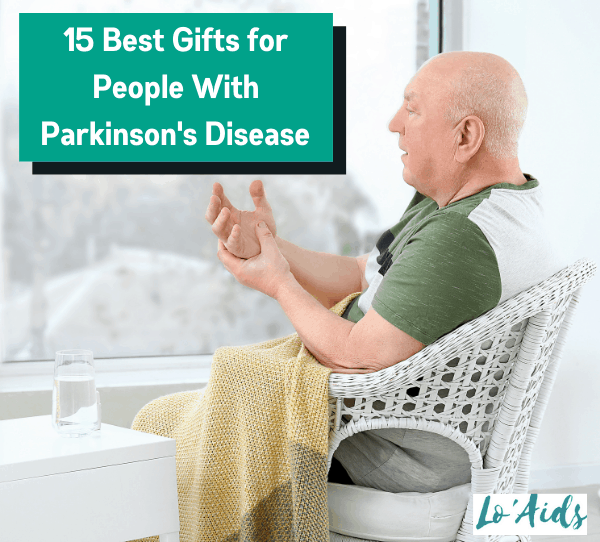 a senior man holding his shaking hands: what are the Best Gifts for People With Parkinson's Disease?
