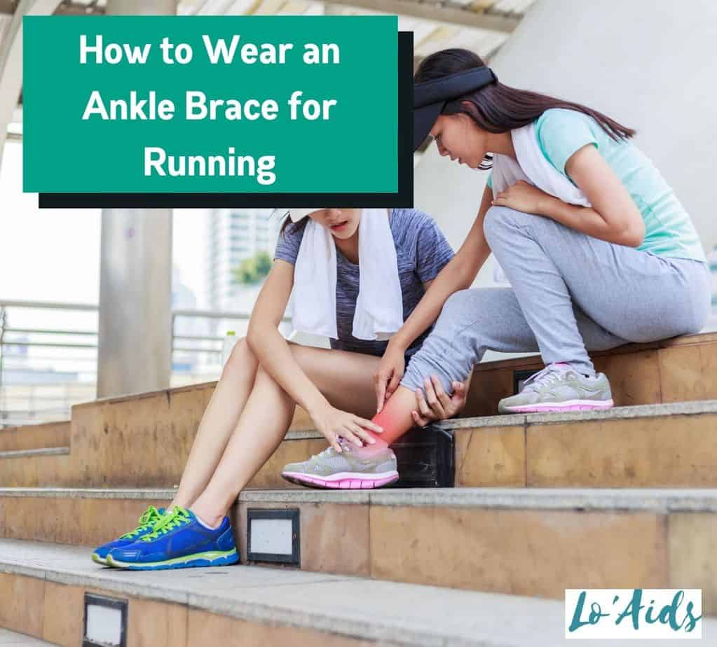 two ladies sitting at the stairs when the lady got sprained: How to Wear an Ankle Brace for Running