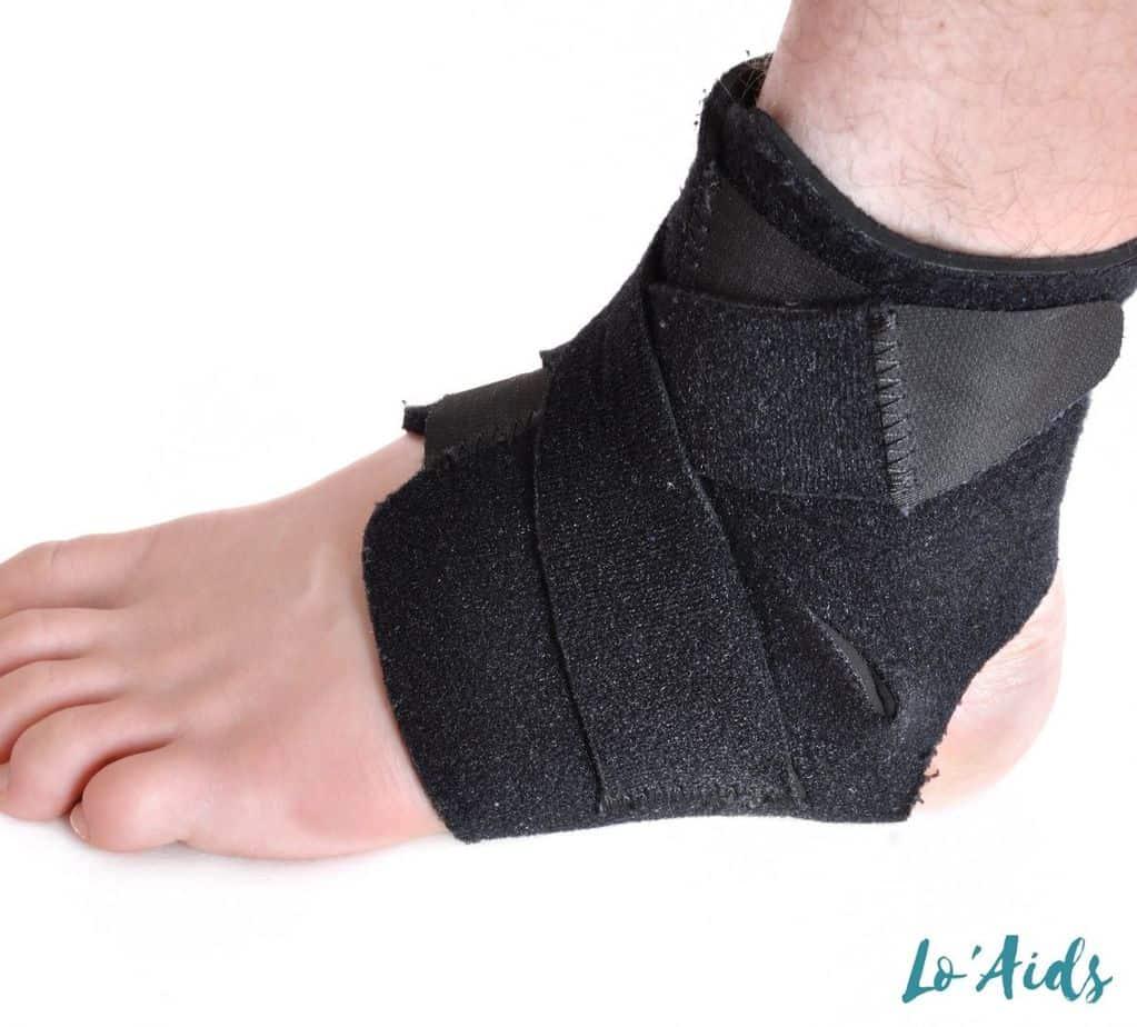 black ankle brace