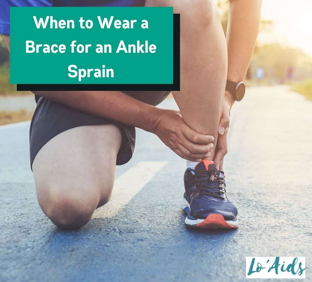 a running athlete holding his sprained ankle but when to wear a brace for ankle sprain?