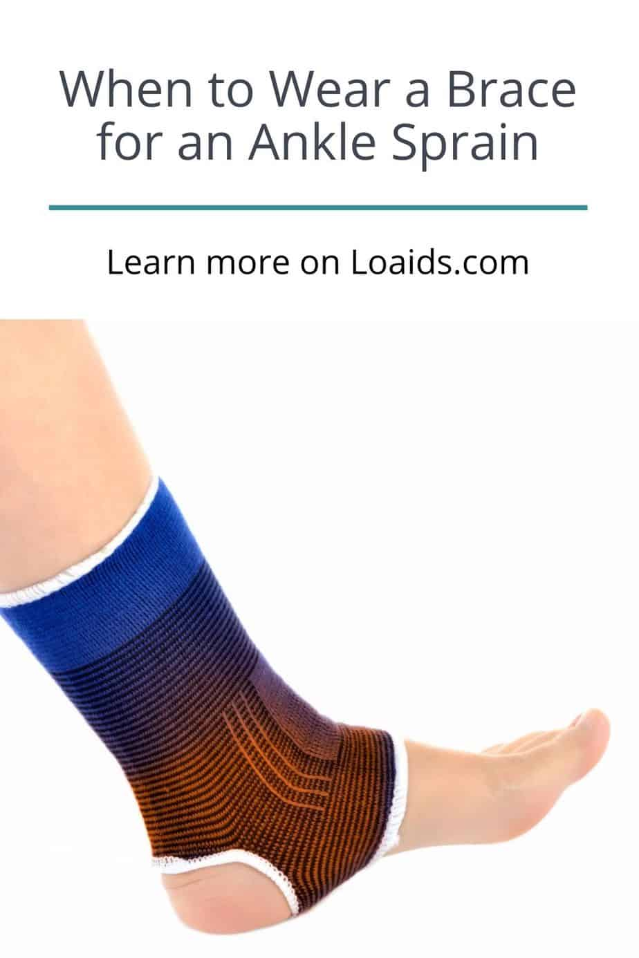 ankle sprain covered with ankle brace