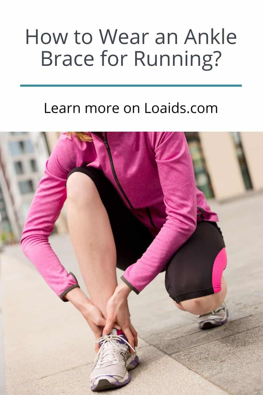 lady holding her aching ankle after running