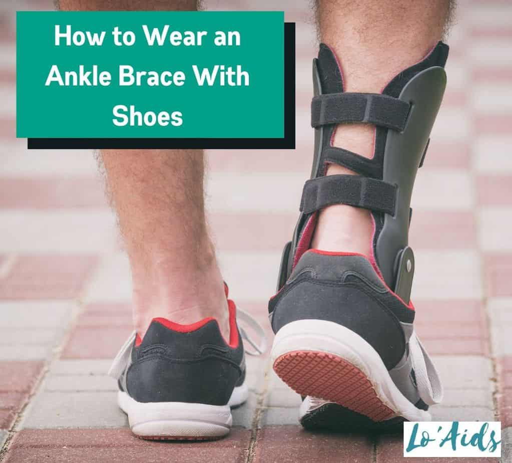 a man wearing ankle brace with shoes: how to wear ankle brace with shoes