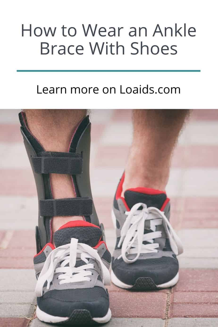 front view of shoes with ankle braces