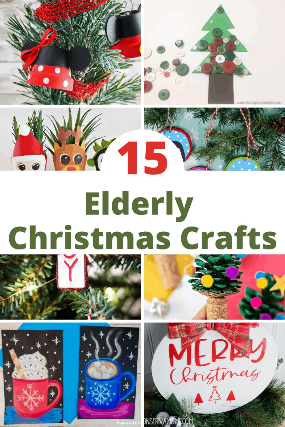 15 pretty and easy to make Christmas crafts for seniors