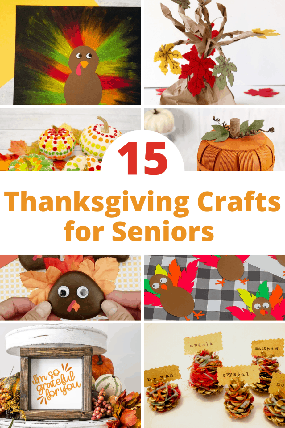 15 cute Thanksgiving Crafts for Seniors