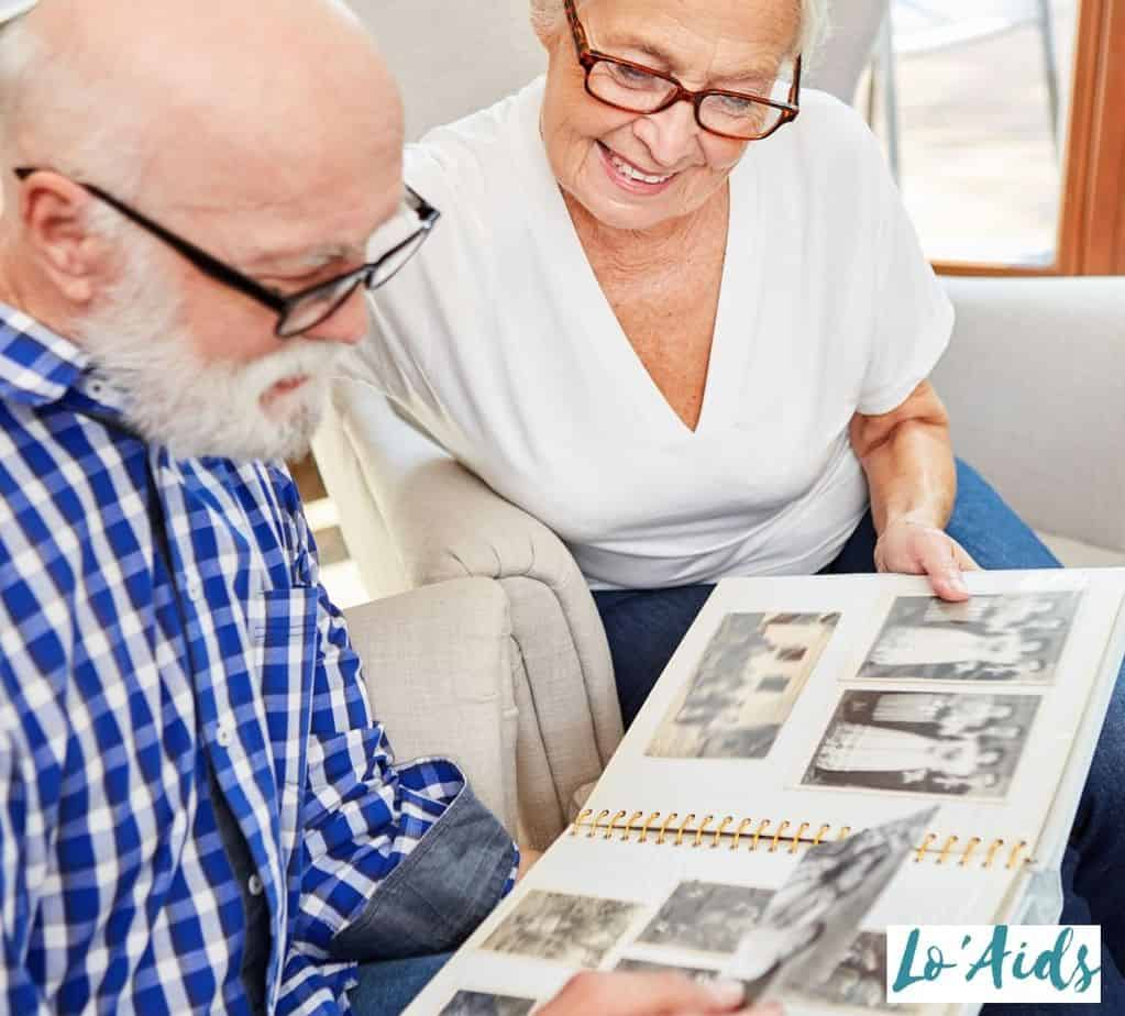 seniors browsing old photos